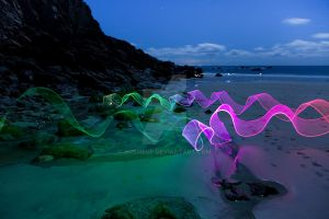 Neon Waves by OrbMeUp