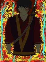 Zuko upclose- Colored background by UnusSicutIgnisEtAqua