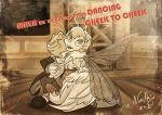 Dancing cheek to cheek Disney by Iluvendure