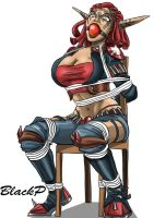 Ashelin chairtied by BlackProf