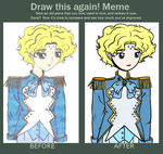 Draw It Again Meme (2) - Michiru by korymisun