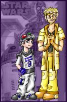 R2D2 and C3PO Humanized by Mermaid-Kalo