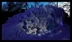 Double Dragon Ice Slide by sculptin