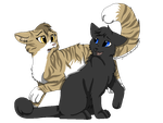 Leafpool and Crowfeather by Hoffnungsstern