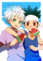 Commission: Gon/Killua by Ai-wa