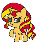 Sunset Shimmer Chibi (Without Background) by SunsetShimmer5739