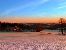 Colorful winter wonderland sundown III by patrickjobst