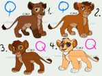 Cute Lion Cub adoptions [OPEN] by Chan98