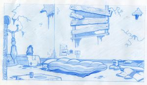 Blue Rendered Room by Opals-landing