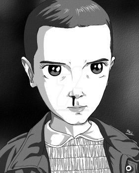 Eleven from Stranger Things by Rael-Mochizuki