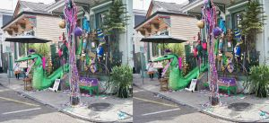 3d House in Mardi Gras Costume by 3dpinup
