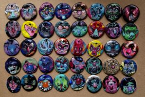 Collection of 40 earring/necklace pieces. by Never-Brush-My-Teeth