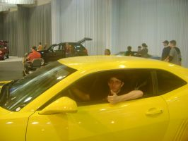 Me driving Bumblebee by RarityLuver214