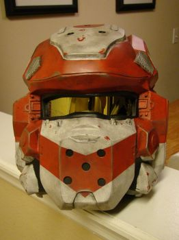 Spartan IV Helmet from Halo 4 Lifesized front view by Hyperballistik