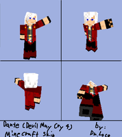 Minecraft skin:Dante by LocoTheDrawfag