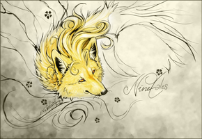 .:Ninetales.:.InkDestruction:. by WhiteSpiritWolf