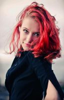 the girl with the hair on fire by elizarosca