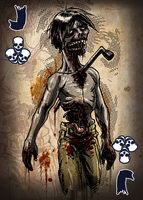 Zombie Card Deck - Jack by ilinamorato
