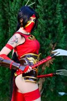Crimson Akali Cosplay by Shady-Chan