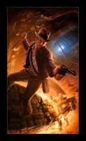 Indiana Jones and the Dynamic Illustration by RUSKULL