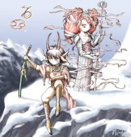 Zodiak: Capricorn and Cancer by ming85