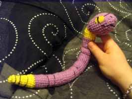 Ekans Amigurumi Custom Plush by Lunarchik13