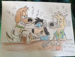Drunk hounds by WolfGang-Jake