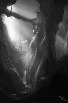 Cave City by MeckanicalMind