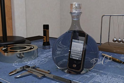(text)Message in a bottle by DaibhiCeallach