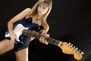 Ksenias blue guitar by robwooly