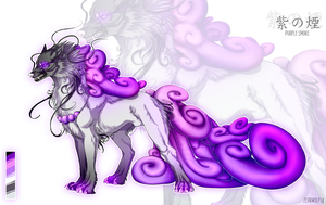 Purple smoke- adoptable [sold] by ZerkWolf