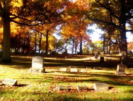 Autumnal Cemetery by roguephoenix311