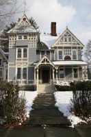 Stock Blue Victorian House by Moon-WillowStock