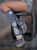 Shredded Wedge Boots by cosmosue