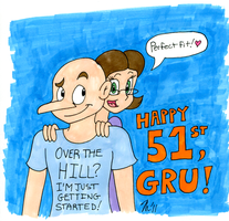 Gru's 51st Birthday by melissaduck