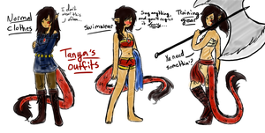 Tanya's Outfits by Ask-TheDrakon