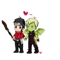 Wiccan and Hulkling by KatsurinaAether
