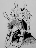 Ciel phantomhive and elizabeth middleford by ayacan