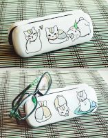 Nyanko-sensei glasses case by AdamaSto
