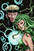 Marvel: Havok and Polaris by fenikkusu