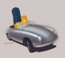 The Simpsons LEGO Porsche by candyrod
