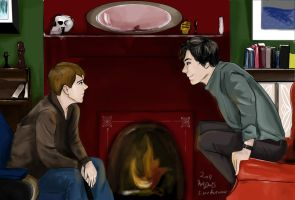 John and Sherlock by silver-autumn