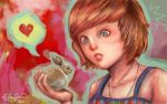 .: Bunny Says Love :. by zsami