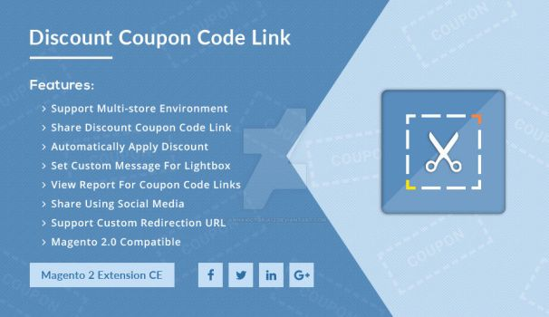 Discount Coupon Code Link - Magento 2 Extension by AnnaVictoria12