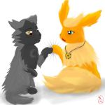 Chase and Fluffy by rooey1