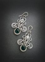 earrings with quartz by nastya-iv83