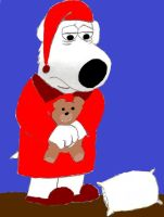 Sleepy Brian Griffin in Pajamas (Updated) by Racefan2464