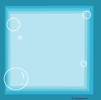 blue bubble frame by snoopyluver5