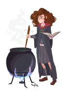 at Potions classes by sofiko-chan