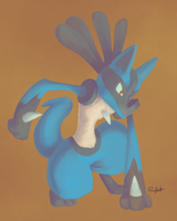 Lucario by Runxforest